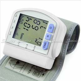 Wholesale Digital LCD Memory Wrist Blood Pressure Monitor Heart Rate Pulse Meter Tester amp Drop Shipping