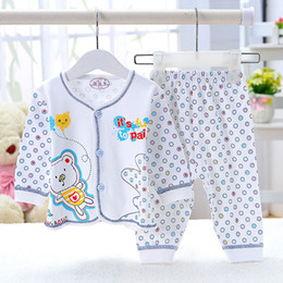 Wholesale Newborn cotton underwear suit shirt and leggings toddler boys girls pajamas sets for spring autumn long sleeve baby sleepwear