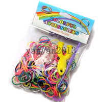 Other rubber band rainbow loom - Colorful Rainbow Loom kit late Rubber band loom Bands bracelet amazing gift for children handmade bands hook S Clips slingshot