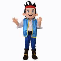 Unisex jake and the neverland pirates - Jake Mascot Costume Adult Size Cartoon Character Costumes Jake and the Neverland Pirates Clothing Fancy Dress