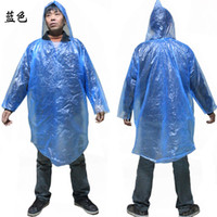 Wholesale 1000pcs Disposable PE Raincoats Poncho Rainwear Travel Rain Coat Wear colorful