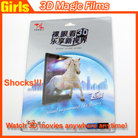 Wholesale Tongli D Magic Films Screen Protector can Get Free D Movies Enjoy D Effect Any time and Any Where For Ipad Air Iphone4 iphone5 Series