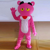 Wholesale Adult pink panther mascot costume cartoon clothing fancy dress
