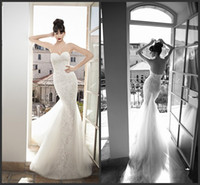 Cheap Trumpet/Mermaid 2014 Wedding Dresses Best Reference Images Strapless Summer Beach Gown