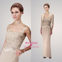 2014 elegant sheath new champagne lace satin mother of the b...