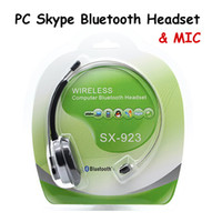 For Apple iPhone Bluetooth Headset  SX-923 Wireless Computer Bluetooth Headset with MIC for Cell Phone iPhone Samsung HTC PS3 Skype MSN Black Color 10pcs
