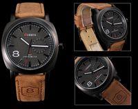 Wholesale Curren man s sport waterproof leather business fashion watch Leather Strap Wrist