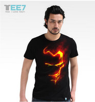 Men shit - 2014 sunmmer LED T shit Fashion Music Party Equalizer LED T shirt EL T Shirt Sound Activated Flashing T Shirt Light Up and Down Fre
