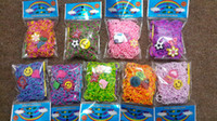 Wholesale Colorful Rainbow Tie Dye Loom Bands For DIY Twisted Bracelet bands S clips kit charms