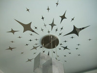 other wall mirror - 43PCS STARS home decoration diy mirror wall stick mirror sticker star stickers