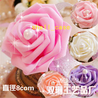 gold dust - Wedding Banquet Party Supplies Bridal Bridesmaid Pearl Gold Dust Corsage Flower Wrist Flower Foam Headdress Flower Free DHL Shipping