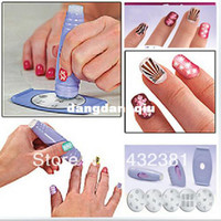 UV Gel Nail Art Set Yes Set & Kit Wholesale-Salon Nail Art Express Decals Stamp Stamping Polish Design Kit Set Decoration407