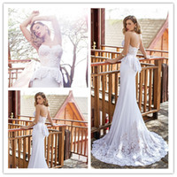 Trumpet/Mermaid Reference Images Sweetheart Mermaid Princess Sweet Wedding Dresses In White Strapless Sleeveless With Peplum Made Of Lace And Fabric Sweep Train Bridal Gowns 2014 Newer