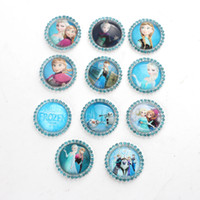Children's assorted glass rhinestones - Assorted Flatback Rhinestone Bottle Caps with Frozen Cartoon Characters Handmade Photo Glass Cabochons for Necklace Pendant Dress Decoration