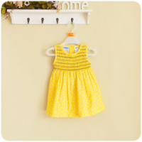 Cotton Above Knee Female wholesale freeshipping baby dress children 's clothes girls dress pleated skirt wrapped chest skirt cotton Dot Cotton skirts 2colors 5pieces