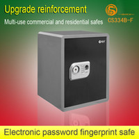 Cheap Electronic fingerprint fingerprint lock password safe home safe deposit box laser exquisite flannelet safe box for free shipping