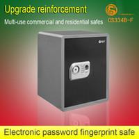 Cheap cs334b-f safe box Best electronic fingerprint password safe box 360 x 320 x 450 mm box safe