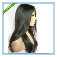 Wholesale Discount price human hair front lace wigs full lace wigs straight natual color virgin peruvian hair wigs