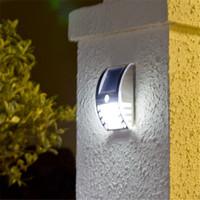 Wholesale 2014 Newest design Solar energy wall lamp LED Solar power outdoor Lamp Outdoor Wall Light garden yard light DHL
