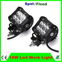 Wholesale 2pcs W CREE LED Work Light Car Offroad Lighting V Vehicle Jeep Truck Mine Boat Off Road Driving Working Light led X W