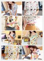 Women chiffon Round S-XXL, 20 Colors Hot Sale Women Bird Colorful Batwing Sleeve Chiffon Shirt, Loose Blouse