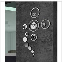Wholesale Nf DIY home decoration fashion mirror wall stickers D bedroom mirror wall clock living room wall clock