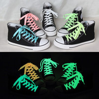 Wholesale Luminous shoelace color fluorescent shoelace flat shoe laces cm