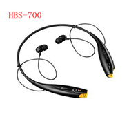 Bluetooth Headset   HBS-700 Sport Neckband Headset In-ear Wireless Headphones Bluetooth Stereo Earphones Earphone Headsets For LG iph5 5S S4 Note 3 S3 5pcs lot