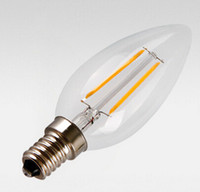 Wholesale price E14 W lm Led Filament Candle chandelier Light Bulbs AC110V AC220V Warm Cold White Glass Cover