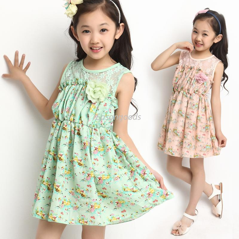 Hot Sell Kids Clothing Big Girl Princess Dress Pre-teen Sweet Girls