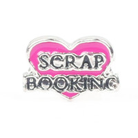 Wholesale Rose Red Heart Scrap Booking Floating Charms For Origami Owl Glass Lockets In Stock
