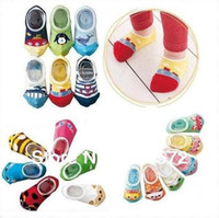 Expédition en gros sans mignon unisexe bébé Enfants Toddler Boy Anti-Slip courtes Chaussettes Chaussures Slipper 8-24 Mois usure de baby baby socks10pairs40