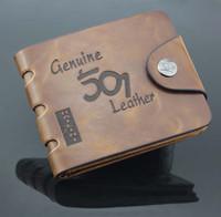 Wholesale High Quality leather brand designer wallet brown color for men Men s Fashion vintage genuine leather short wallets VLW