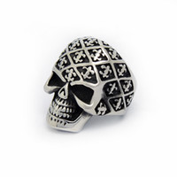 Band Rings Celtic Men's Retro Skull Men 's Titanium steel ring R7