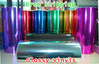 Wholesale 1 M Chrome Vinyl Film car wraps car sticker color option Auto foil Car styling Car sticker
