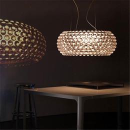 New Chandeliers Foscarini Caboche Pendant Lamp Patricia Urquiola ,Eliana Gerotto Designed Clear Transparent Amber Acrylic Ball Pendent Light