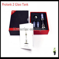 Wholesale Protank Clear Atomizer Protank II Pyrex Glass Clearomizer Protank Cartomizer Dual Wicks in a Special Gift Box for E Cigarette E Cig kits