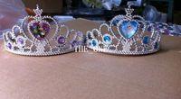 Cheap Tiaras girl frozen crown Best Plastic Solid frozen tiara crown