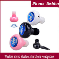 Cheap 2014 new mini wireless stereo headset for iPhone Bluetooth Headset Samsung smartphones