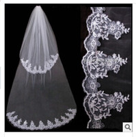 Cheap 2014 New styling Bridal Veils fashion double-deck car bone lace net yarn veil Wedding dress accessories yzs168