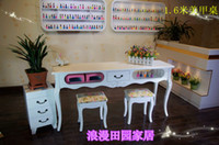 Wholesale Three sets of odd and even professional nail manicure tables of solid wood stool Nail Manicure nail shop dedicated cabinet