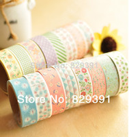 Wholesale 2014 New fashion washi masking cartoon DIY tape cute adhesive tape DIY sticker label ss