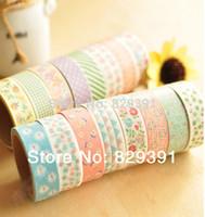 Wholesale 2014 New fashion washi masking cartoon DIY tape cute adhesive tape DIY sticker label ss
