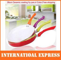Wholesale Hot cm Ceramic Pan Aluminum Alloy Material Ceramic Coating Inside CE FDA Certificate Color Frying Pan