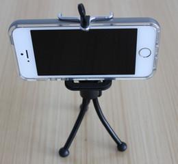 Araignées noires en Ligne-Mini Spider Flexible Mounts Support pour trépied Support pour trépied Support pour téléphone + Support Clip pour téléphone Samsung HTC Mobile Phone -BLACK