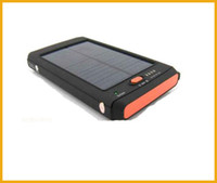 Wholesale 11200mAh Solar Power Bank Portable Battery Panel Charger USB backpack With LED Flashlight For Laptop Camera Cell Phone PC MP3 Tablet Mobile