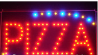 pizza sign - Hot sale Animated Motion LED Restaurant BBQ Club Pizza SIGN On Off Switch Open Light Neon