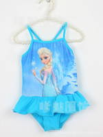 4Pcs lot Hot Sell Frozen Elsa Anna Children Girls One- piece ...