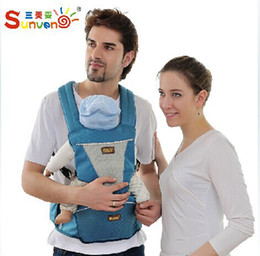 Wholesale baby carriers multifunction breathable shoulders unisex hipseat suspenders carrier kg front carry polyester sling bag waist stool