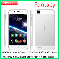 "Octa Core Android Lenovo Original ZOPO ZP1000 MTK6592 octa core Phone android 4.2 smart phone 5"" capacitive 1280*720 dual sim 5MP Front 14MP Back OTG"